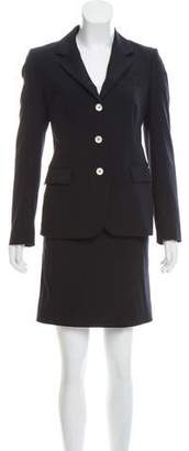 Luciano Barbera Wool Skirt Suit