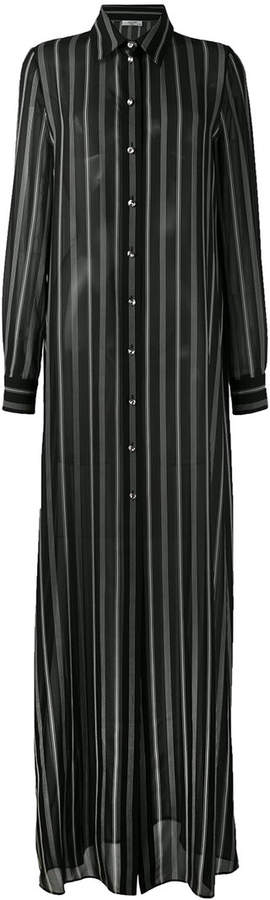 Lanvin striped maxi shirt dress