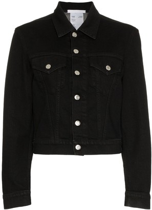 Helmut Lang cropped boxy denim jacket