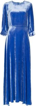 Deitas velvet maxi dress