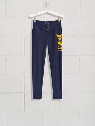 PINK West Virginia University High Waist Lace-Up Fleece Lined Legging
