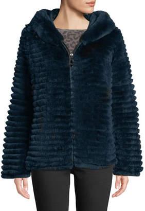 Belle Fare Reversible Fur & Down Jacket w/ hood