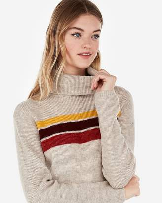 Express Striped Turtleneck Sweater Dress