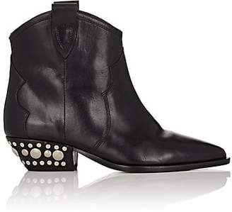 Isabel Marant Women's Dawyna Leather Ankle Boots - Black