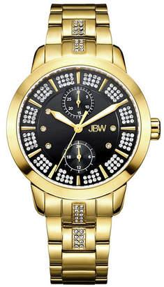JBW Women Lumen Diamond (1/20 ct.t.w.) 18k Gold Plated Stainless Steel Watch