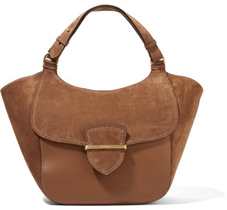 Michael Kors Collection - Josie Large Suede And Leather Tote - Brown $1,950 thestylecure.com
