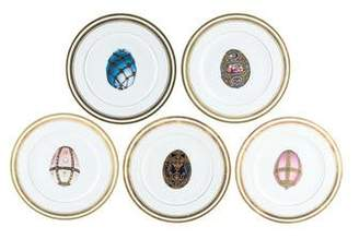 Faberge Set of 5 Imperial Salad Plates