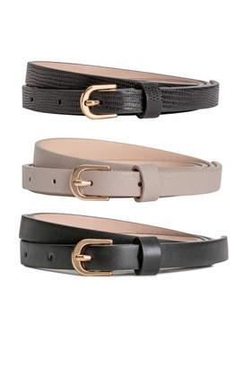 H&M Narrow Belts