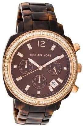 Michael Kors Wolcott Tortoise Watch