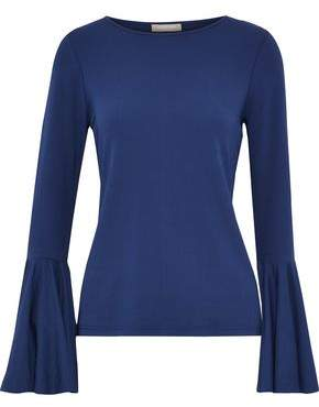 Michael Kors Fluted Stretch-Jersey Top