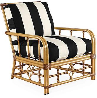 Celerie Kemble Mimi Lounge Chair - Black/White Stripe - CELERIE KEMBLE
