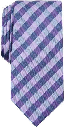 Nautica Men Lanier Plaid Slim Silk Tie