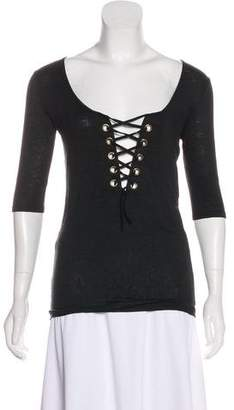 Calypso Linen Lace-Up Top