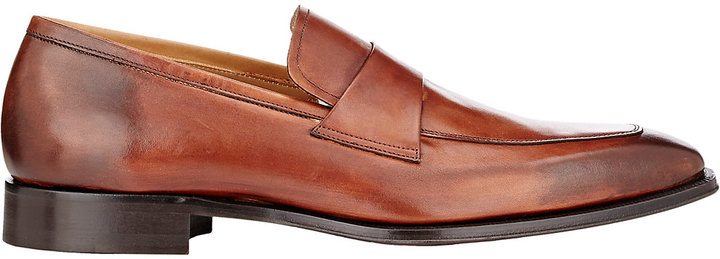 Barneys New York Barneys New York BARNEYS NEW YORK MEN'S LEATHER APRON-TOE LOAFERS