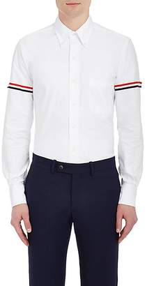Thom Browne Men's Appliquéd Cotton Button-Down Shirt - White