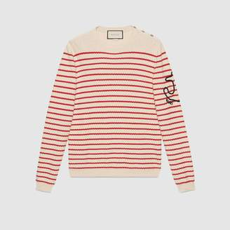Gucci Striped cashmere knit sweater
