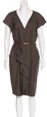 HUGO BOSS Ruffle-Paneled Midi Dress