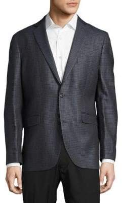 Saks Fifth Avenue Silk Blend Check Jacket