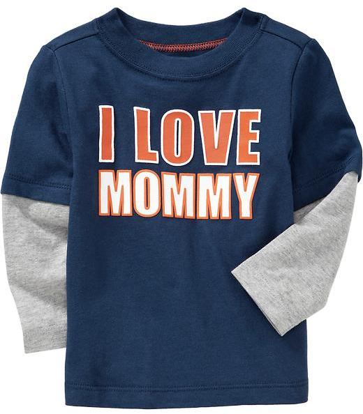 """I Love Mommy"" Tees for Baby"