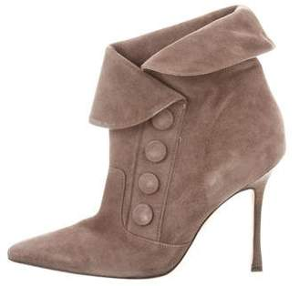 Manolo Blahnik Pointed-Toe Ankle Boots