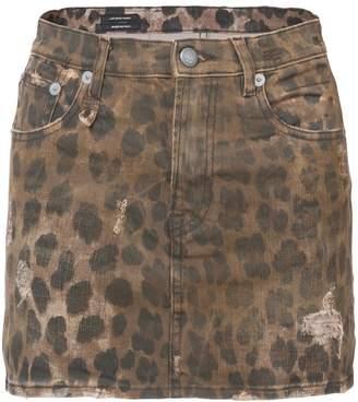 R 13 leopard print skirt