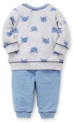 Little Me Bears Sweatshirt & Sweatpants Set
