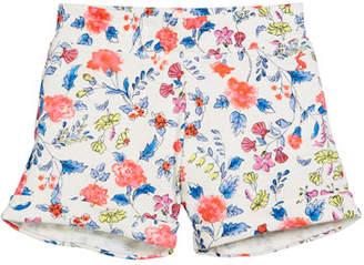 Joules Floral Cotton Beach Shorts, Size 3-10