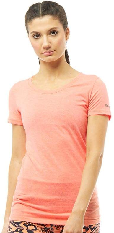 Damen CrossFit T-Shirt Pfirsichmeliert