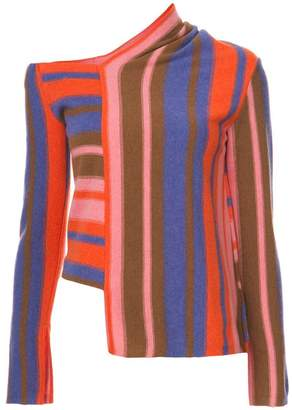 Peter Pilotto asymmetric striped sweater