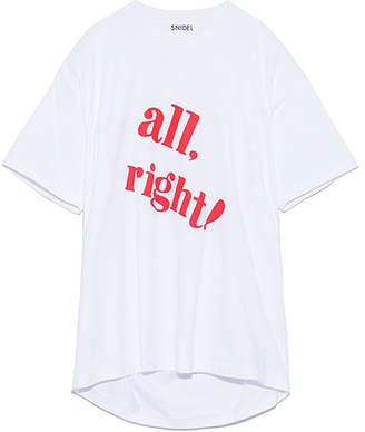 Snidel (スナイデル) - SNIDEL ビックロゴTシャツ