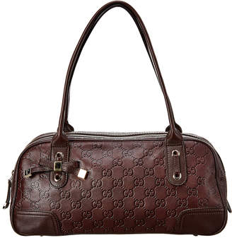 Gucci Brown Guccissima Leather Princy Satchel