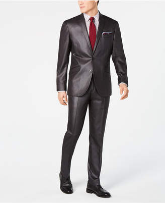 Kenneth Cole Men's Slim-Fit Plaid Suit