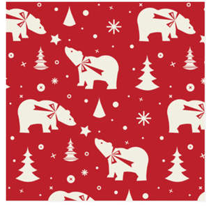 Winter Bear Self-Launch Wrapping Paper