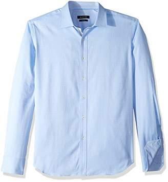 Bugatchi Men's Long Sleeve Pattern Woven Point Collar Button Down Shirt