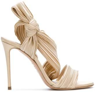 Casadei pleated strap sandals