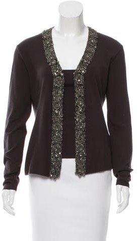 Roberto CavalliRoberto Cavalli Embellished Knit Cardigan Set