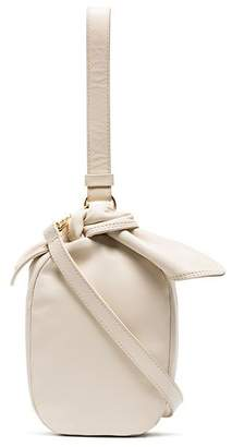 Simone Rocha Beige bow leather pouch bag