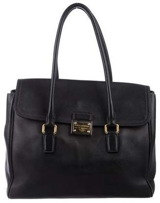 Dolce & Gabbana Leather Flap Tote