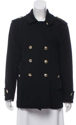 Louis Vuitton Double-Breasted Wool Coat