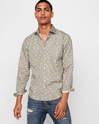 Express Slim Floral Shirt