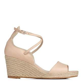 Marshmallow Pink Leather Nellie Wedge Sandals
