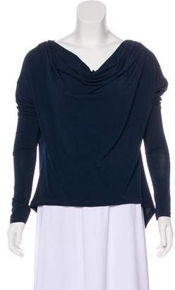 Elizabeth and James Cowl Neck Long Sleeve Top
