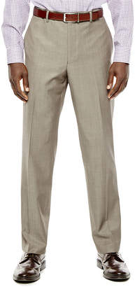 COLLECTION Collection by Michael Strahan Taupe Flat-Front Suit Pants - Classic Fit