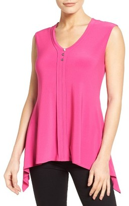 Women's Chaus Shark Bite Hem Jersey Top $59 thestylecure.com