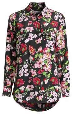 Equipment Signature Floral-Print Silk Blouse