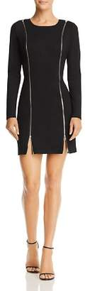 GUESS Wess Zip Detail Body-Con Dress