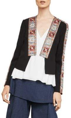 BCBGMAXAZRIA Embroidery-Trimmed Jacket