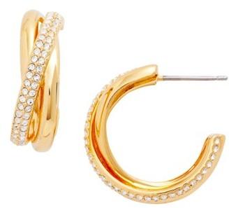Women's Nadri Trinity Pave Hoop Earrings $68 thestylecure.com