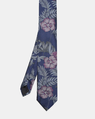 Tropical pattern silk tie $105 thestylecure.com