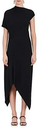 The Row Women's Jiana Rib-Knit Wool-Blend Off-The-Shoulder Dress - Black